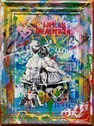 Work Well Together by Mr Brainwash -  sized 34x45 inches. Available from Whitewall Galleries