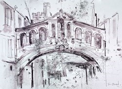 Bridge of Sighs, Oxford III by Tim Steward -  sized 30x22 inches. Available from Whitewall Galleries