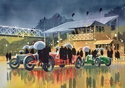 Qualifying Day by Peter J Rodgers - Original Painting on Paper sized 28x20 inches. Available from Whitewall Galleries