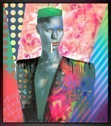 Grace Jones by Dan Pearce -  sized 32x36 inches. Available from Whitewall Galleries