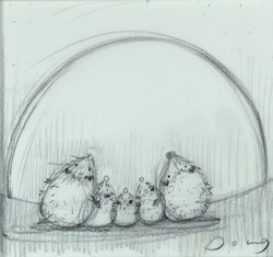 Reach For The Stars III by Doug Hyde -  sized 7x7 inches. Available from Whitewall Galleries
