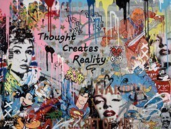 Thought Creates Reality by Yuvi -  sized 39x30 inches. Available from Whitewall Galleries