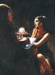 The Muse by Fabian Perez -  sized 9x12 inches. Available from Whitewall Galleries