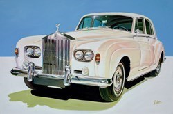 Elvis Presley's 1963 Rolls Royce Phantom V Touring Limousine by Roz Wilson -  sized 36x24 inches. Available from Whitewall Galleries