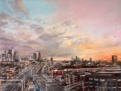 Glimpse of the City by Ziv Cooper -  sized 40x30 inches. Available from Whitewall Galleries
