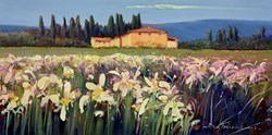 Giallo e Bianco I by Bruno Tinucci -  sized 24x12 inches. Available from Whitewall Galleries