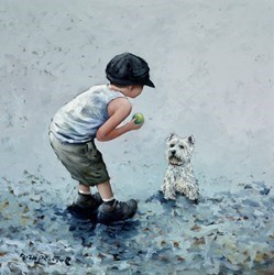Fetch by Keith Proctor -  sized 24x24 inches. Available from Whitewall Galleries