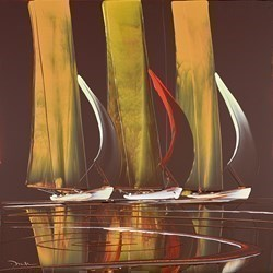 Copper Sailing by Duncan MacGregor -  sized 24x24 inches. Available from Whitewall Galleries