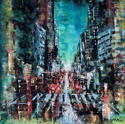 Epitome of Urban, NYC by Mark Curryer -  sized 24x24 inches. Available from Whitewall Galleries