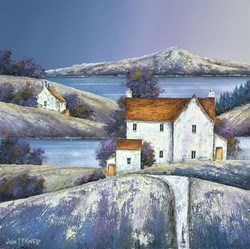 Tor View by John Mckinstry -  sized 20x20 inches. Available from Whitewall Galleries