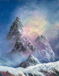 Misty Mountains by Philip Gray -  sized 6x8 inches. Available from Whitewall Galleries