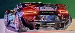 2015 Porsche 918 Spyder Hybrid by Roz Wilson -  sized 36x16 inches. Available from Whitewall Galleries
