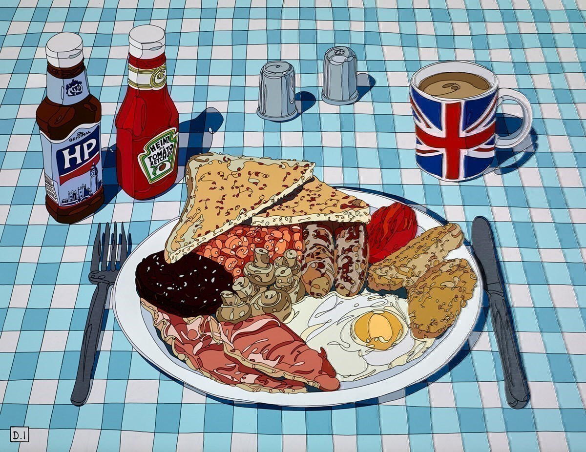 Breakfast on Blue and White by Dylan Izaak -  sized 36x28 inches. Available from Whitewall Galleries