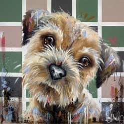 Puppy Pal by Samantha Ellis -  sized 30x30 inches. Available from Whitewall Galleries