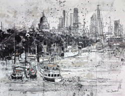 St. Pauls & Blackfriars Bridge, London by Tim Steward -  sized 25x20 inches. Available from Whitewall Galleries
