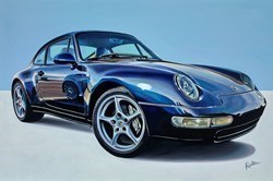 1982 Porsche 911 Carrera by Roz Wilson -  sized 36x24 inches. Available from Whitewall Galleries