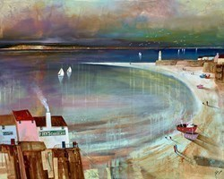 Across the Bay by Keith Athay -  sized 39x32 inches. Available from Whitewall Galleries