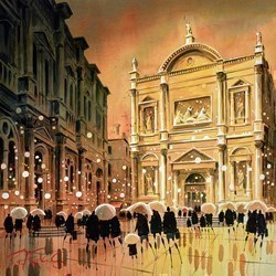 Shower and Shadows - Venice by Peter J Rodgers -  sized 20x20 inches. Available from Whitewall Galleries