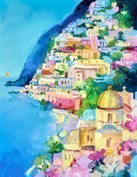 Amalfi Evening II by Anna Gammans -  sized 14x18 inches. Available from Whitewall Galleries