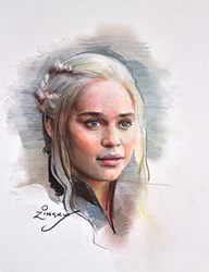 Mother of Dragons by Zinsky -  sized 10x13 inches. Available from Whitewall Galleries
