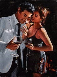 The Proposal IV (Reversed) (Red Wine) by Fabian Perez -  sized 9x12 inches. Available from Whitewall Galleries