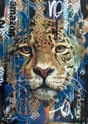 Jaguar by Zinsky -  sized 22x32 inches. Available from Whitewall Galleries
