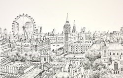 Westminster View Study by Phillip Bissell -  sized 17x11 inches. Available from Whitewall Galleries