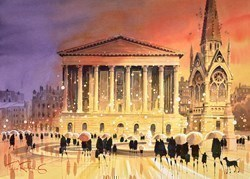 Dusk Reflections - Birmingham by Peter J Rodgers -  sized 28x20 inches. Available from Whitewall Galleries