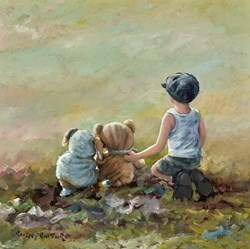 Friends by Keith Proctor -  sized 24x24 inches. Available from Whitewall Galleries
