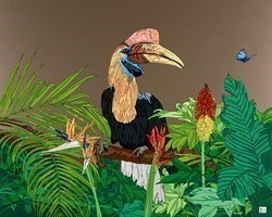 Hornbill by Dylan Izaak -  sized 40x32 inches. Available from Whitewall Galleries