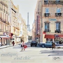 Shopping in Paris by Tom Butler -  sized 17x17 inches. Available from Whitewall Galleries