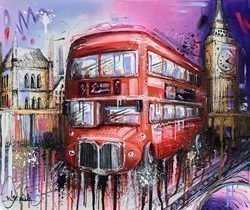 Bussing It by Samantha Ellis -  sized 24x20 inches. Available from Whitewall Galleries