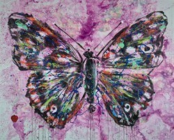 Butterfly II by Alejandro Hermann -  sized 51x41 inches. Available from Whitewall Galleries