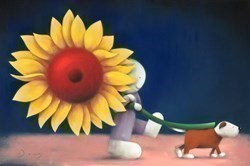 Bring the Sunshine by Doug Hyde - Original Drawing, Paper on Board sized 30x20 inches. Available from Whitewall Galleries