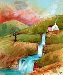 The Waterfall by Keith Athay -  sized 20x24 inches. Available from Whitewall Galleries