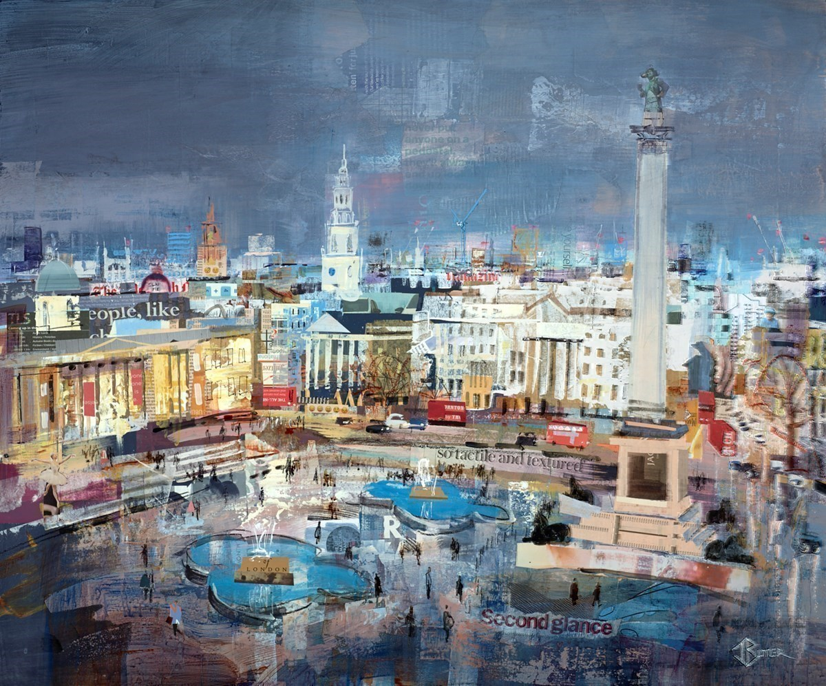 On a Pedestal by Tom Butler -  sized 36x30 inches. Available from Whitewall Galleries