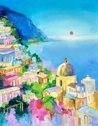 Amalfi Evening III by Anna Gammans -  sized 14x18 inches. Available from Whitewall Galleries
