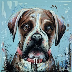 Home is Where the Dog Is IV by Samantha Ellis -  sized 30x30 inches. Available from Whitewall Galleries