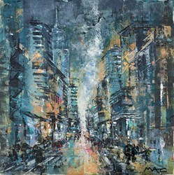 Smell the City by Mark Curryer -  sized 24x24 inches. Available from Whitewall Galleries