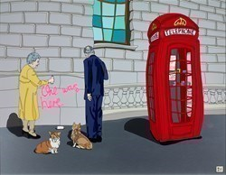 Queen and Consort (RR) by Dylan Izaak -  sized 36x28 inches. Available from Whitewall Galleries