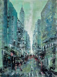Winter's Coming, NYC by Mark Curryer -  sized 30x40 inches. Available from Whitewall Galleries