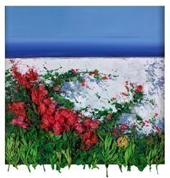 Bugambilia by Ramon Vila -  sized 30x31 inches. Available from Whitewall Galleries