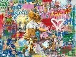 Work Well Together by Mr Brainwash -  sized 50x38 inches. Available from Whitewall Galleries
