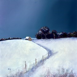 Winter Snows by Barry Hilton -  sized 24x24 inches. Available from Whitewall Galleries