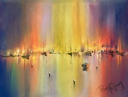 Fire Lights IV by Philip Gray -  sized 8x6 inches. Available from Whitewall Galleries
