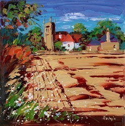 Cut Strawfield, Bolton by Lynn Rodgie -  sized 12x12 inches. Available from Whitewall Galleries