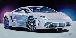 2017 Lamborghini Aventador by Roz Wilson -  sized 40x20 inches. Available from Whitewall Galleries