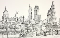 St Pauls and the City by Phillip Bissell -  sized 17x11 inches. Available from Whitewall Galleries