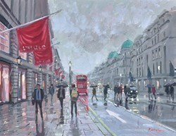 Regent Street Bustle by Charles Rowbotham -  sized 12x9 inches. Available from Whitewall Galleries