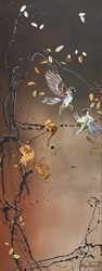 Sparrow Splender by Kay Davenport -  sized 18x48 inches. Available from Whitewall Galleries